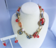 Coral Me Unique Necklace & Earring Set