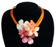 Coral Posies Necklace