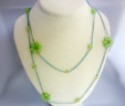 Green Daisies Necklace