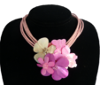 Pink Posies Necklace