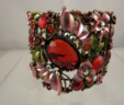 Red Floral Dream Bracelet