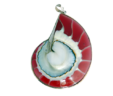 Red and White Labyrinth Pendant