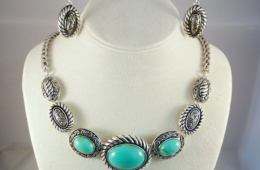 Turquoise and Caicos Necklace & Earring Set