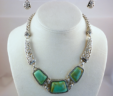 Victorian Turquoise Necklace & Earring Set