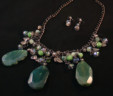 Green Waterfall Necklace