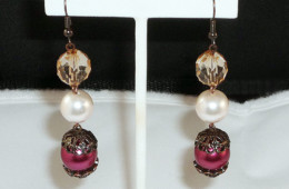 Elegantly Pink Earrings